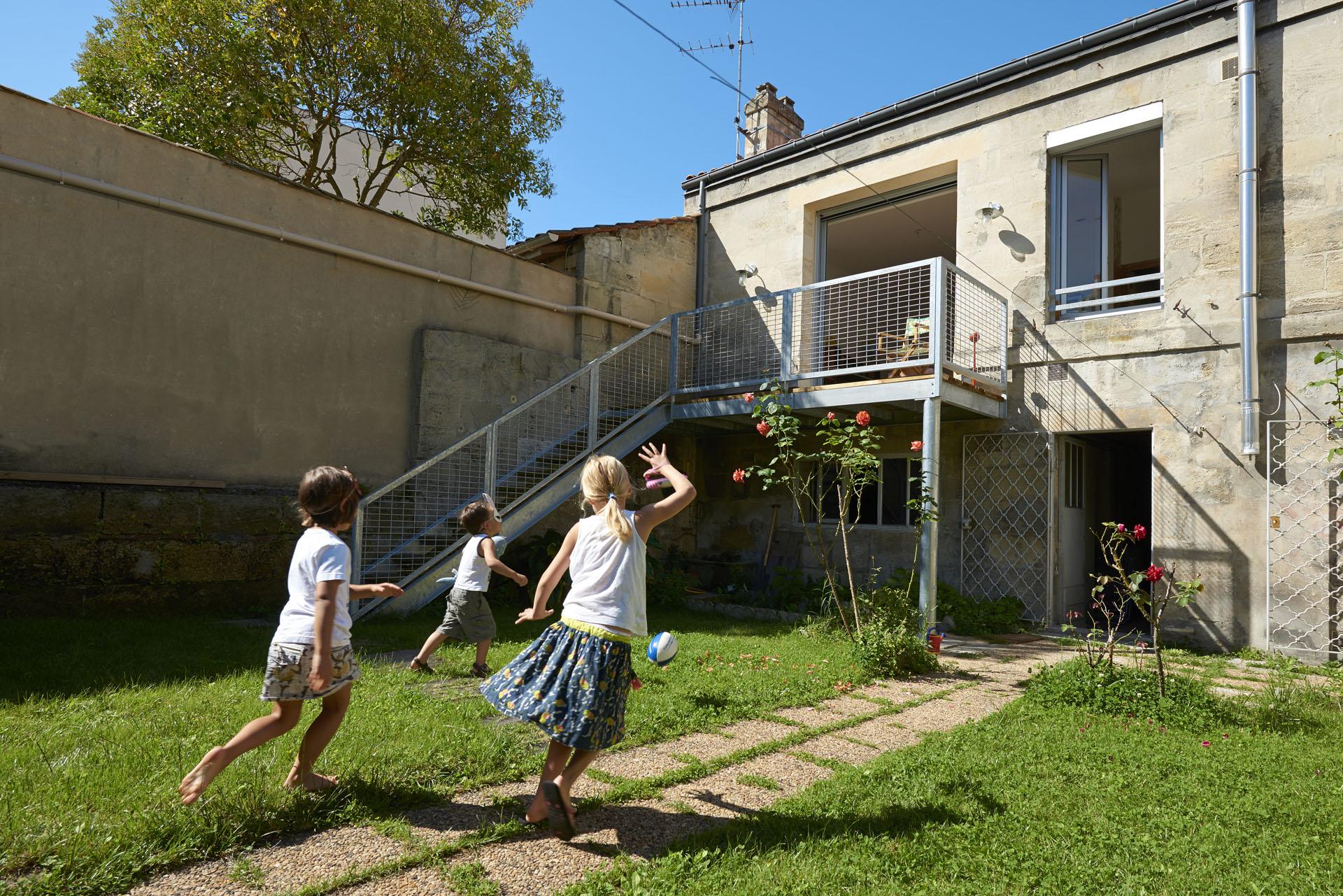 réhabilitation et extension, création de terrasse à Bordeaux, Chartrons