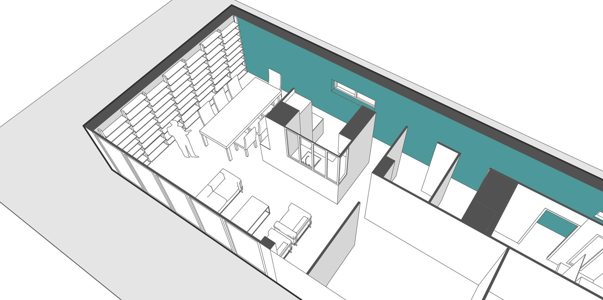 Aménagement appartement et création bilbiothèque