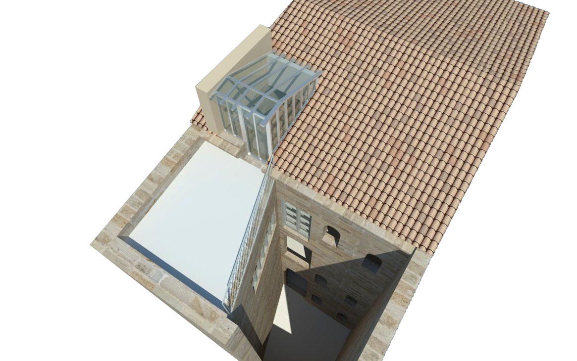 Création d'une terrasse dans un toit à Bordeaux