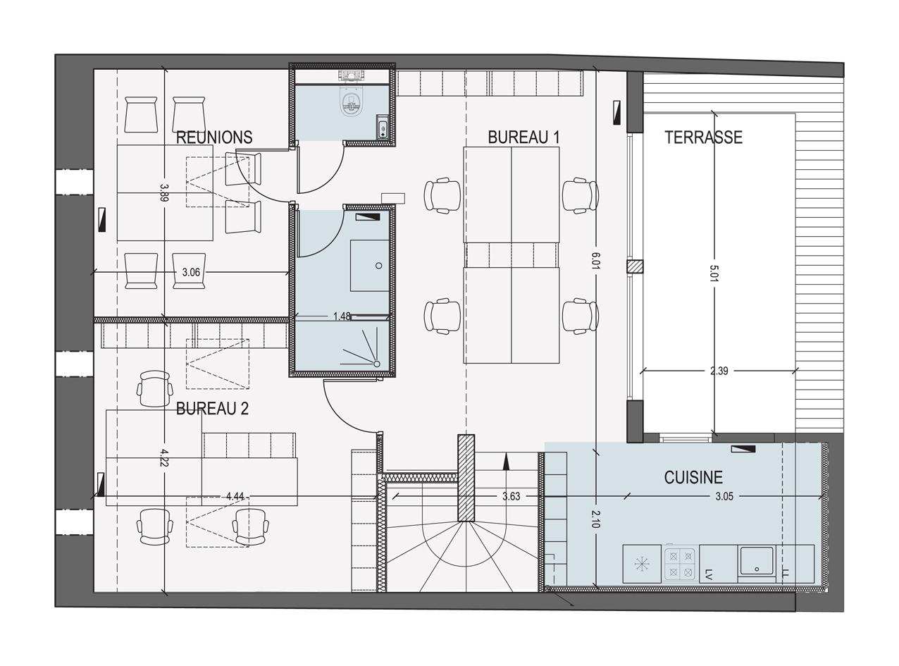 Plans pour construire une maison plan de maison en u for Maison a construire plan