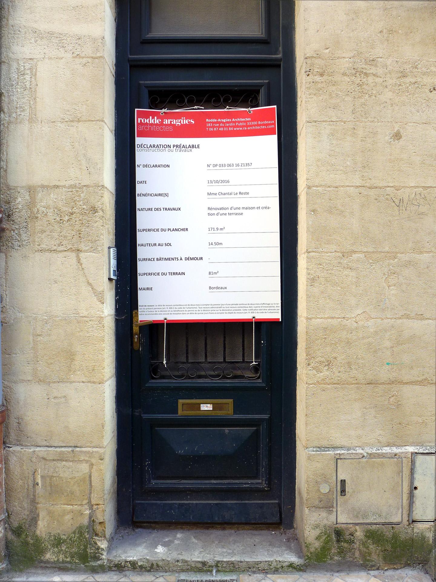 Réhabilitation immeuble pierre dans le centre de Bordeaux