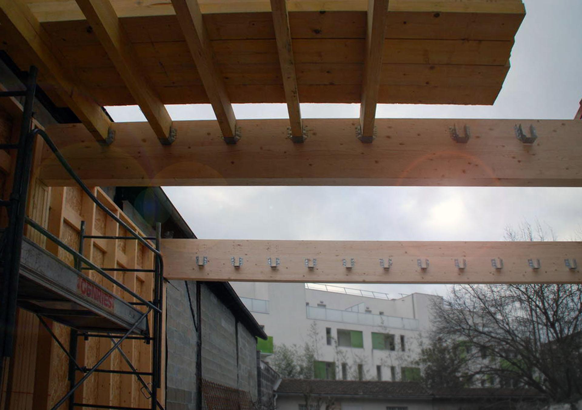 extension en ossature bois d'une maison à Bordeaux Chartrons