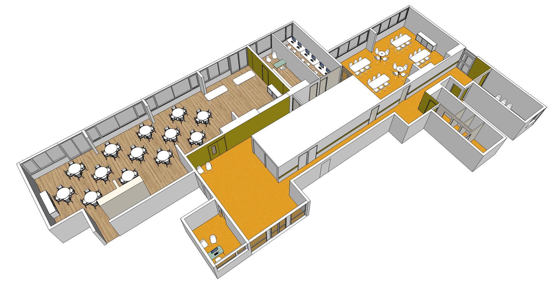 rénovation, signalétique et choix du mobilier pour EHPAD