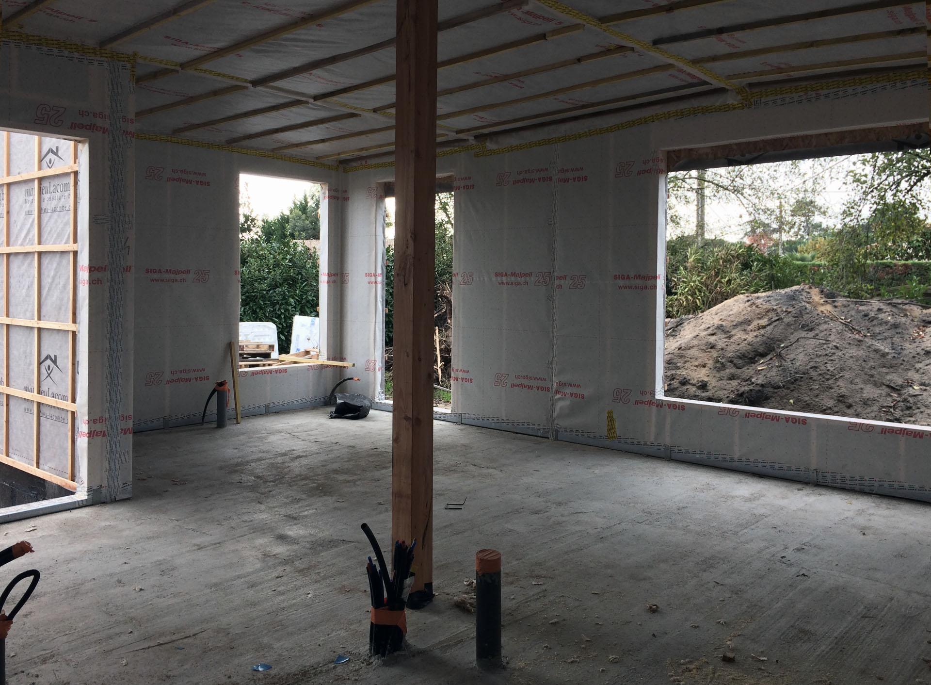 aménagement d'un hangar en loft moderne bassin d'arcachon 33120