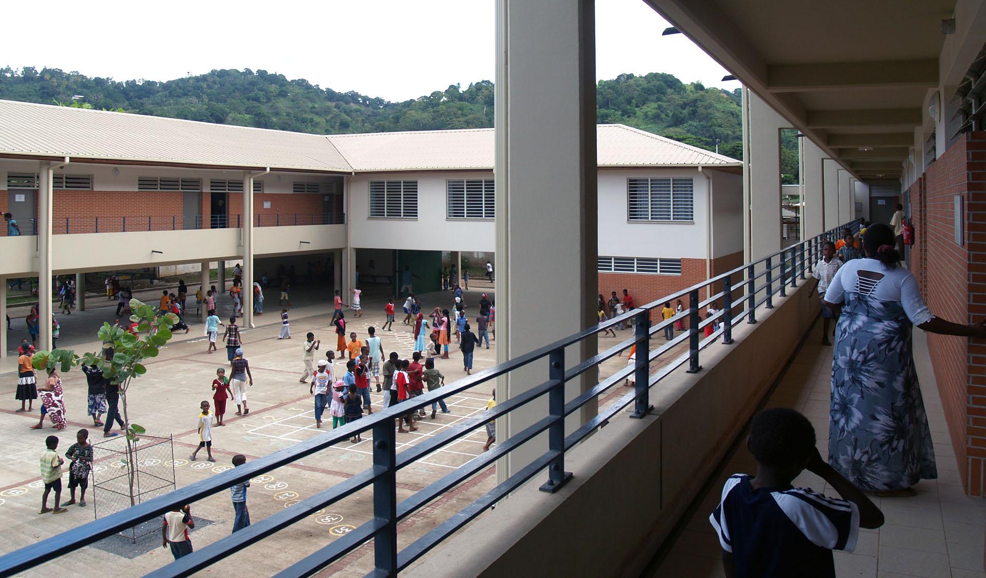 construction école élémentaire à Mayotte