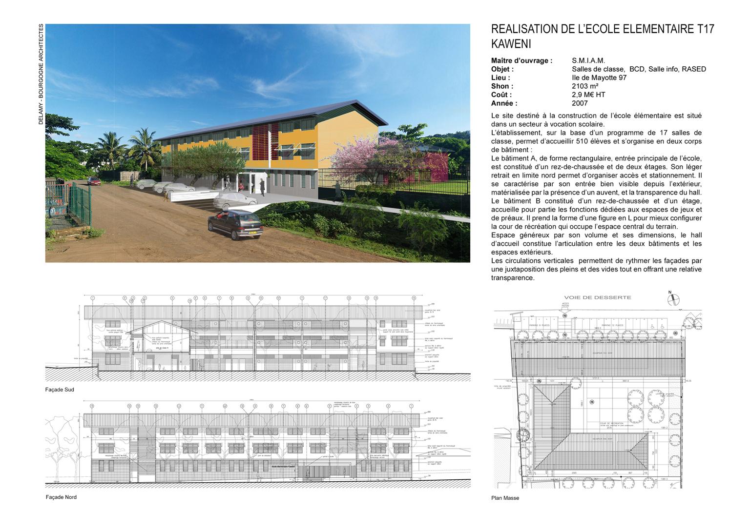 architecte construction école à Mayotte