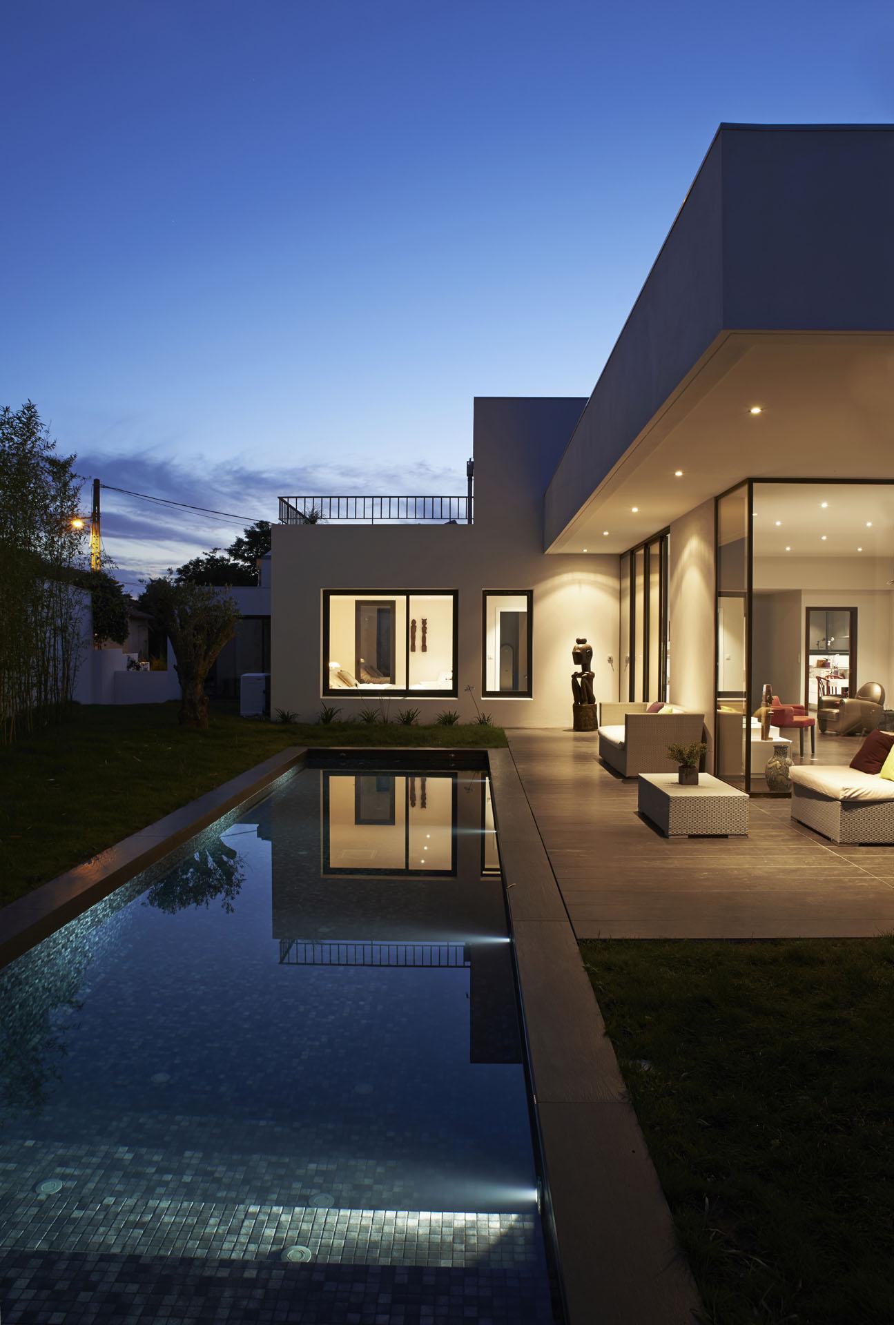 construction de 2 villas contemporaines et piscine à Anglet ...