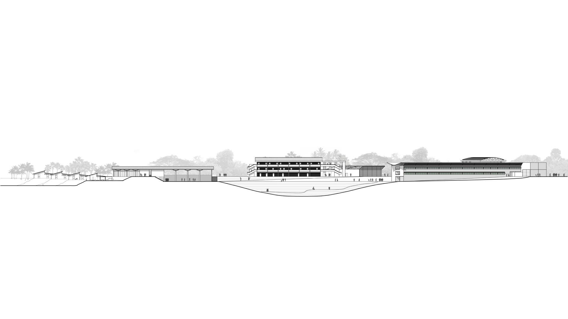 architecte construction collège climat tropical