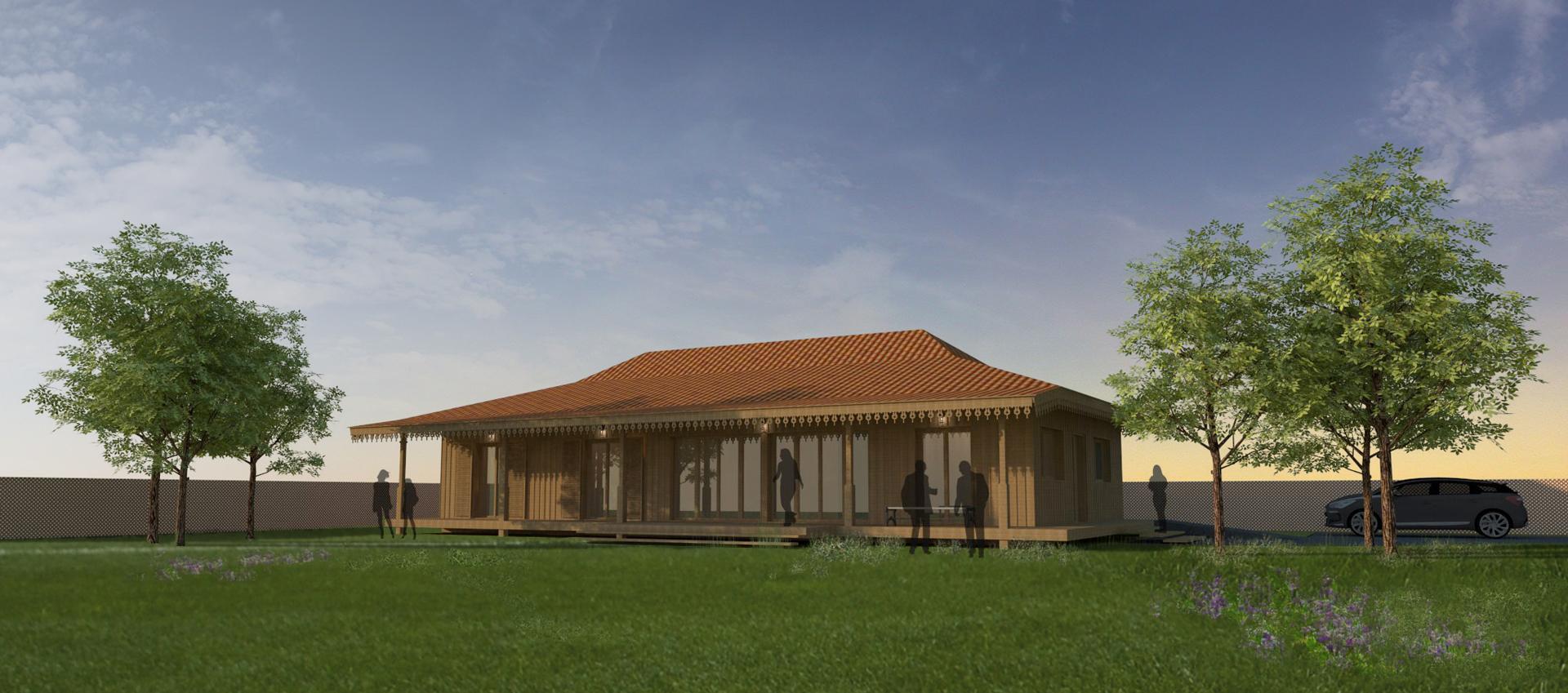 villa construction bois à Lège Cap-Ferret