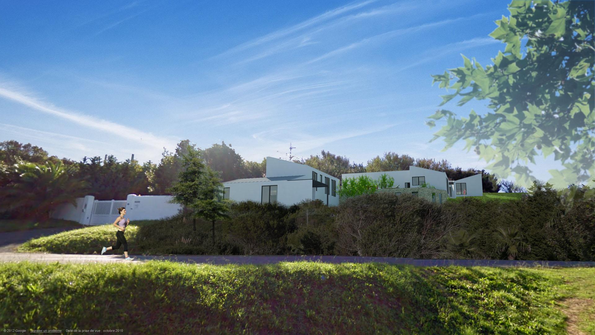 construction de 3 villas contemporaines à Saint Jean de Luz