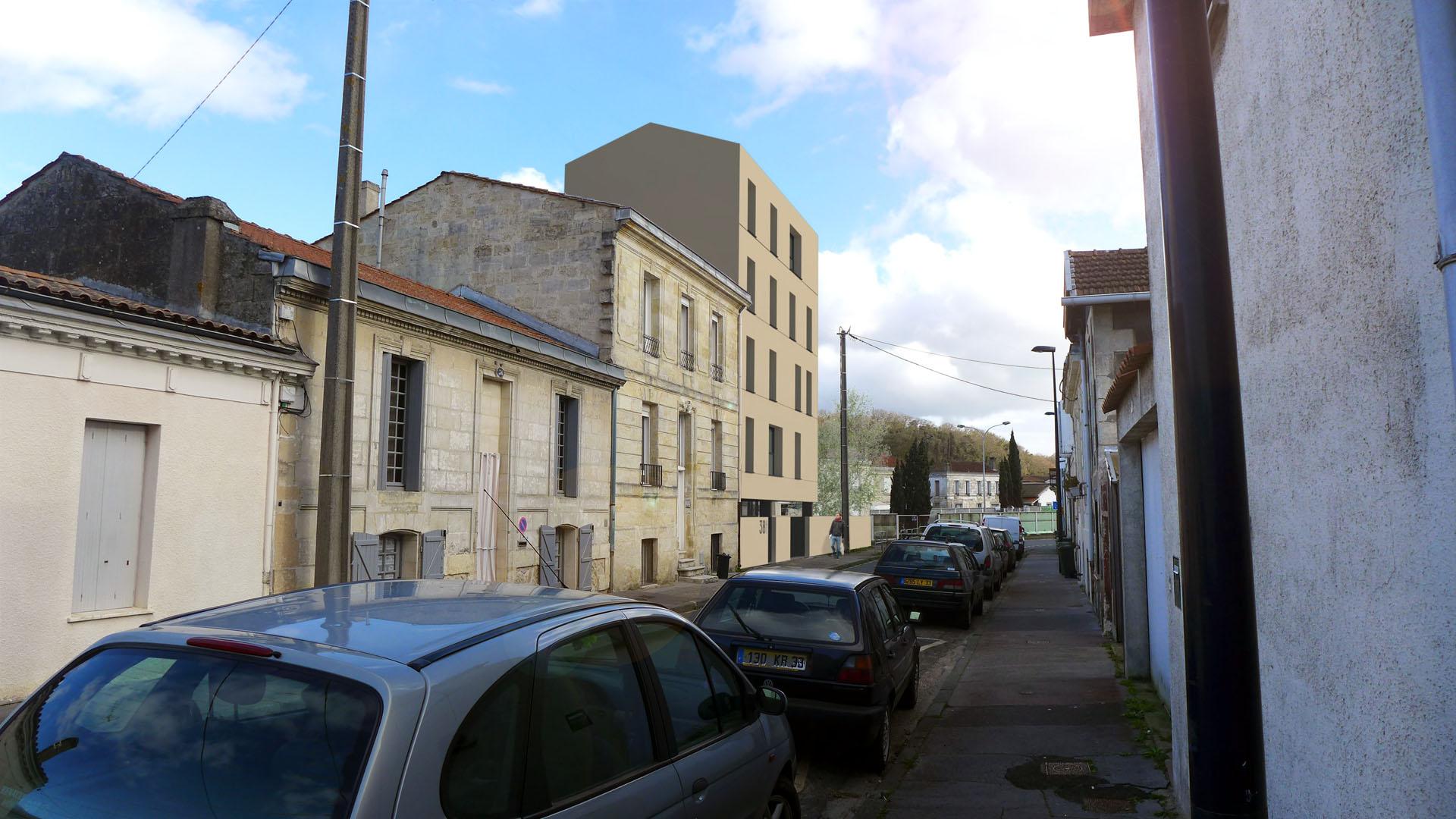 Immeuble de 4 logements locatifs bordeaux architectes for Permis de construire surface minimum