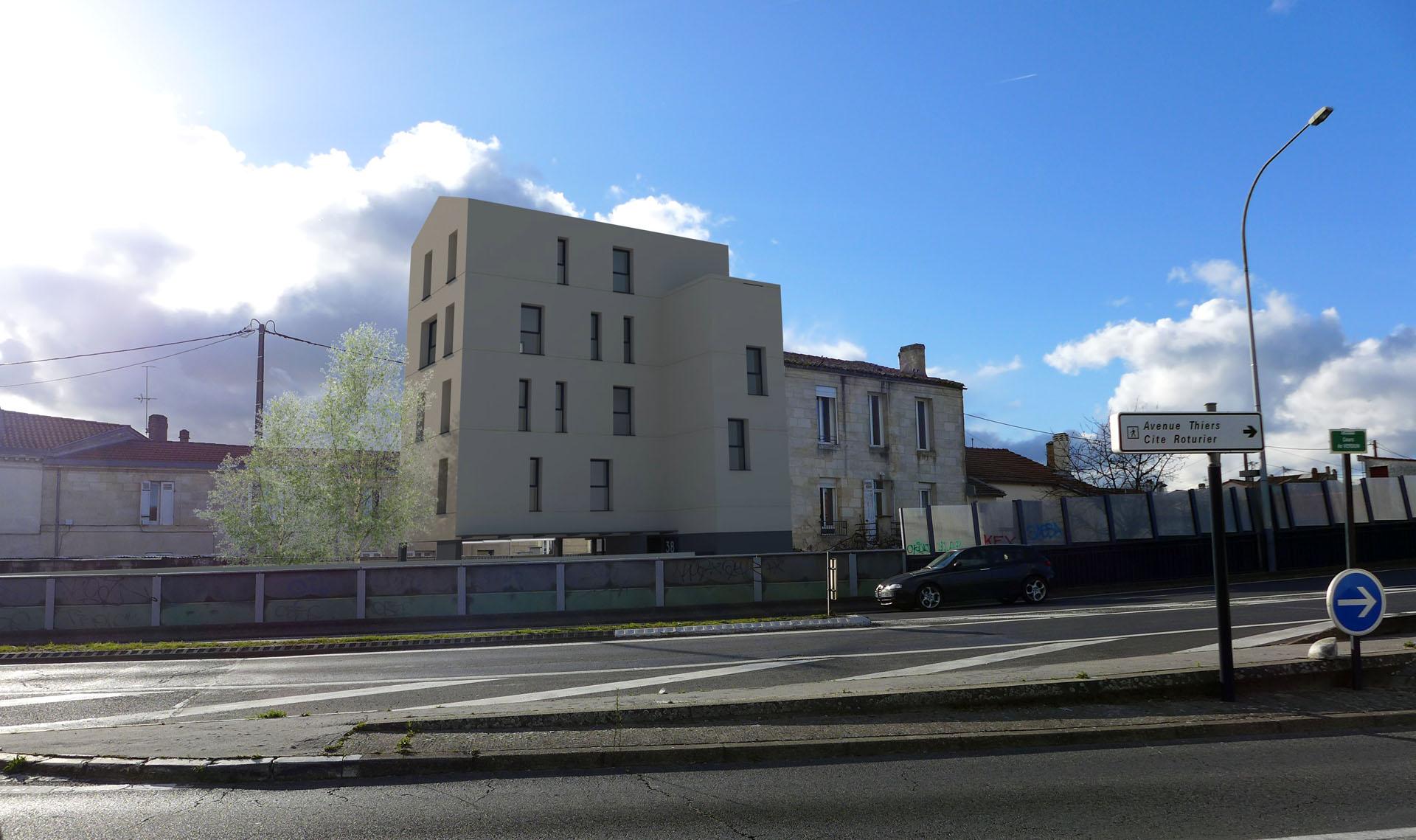 Immeuble de 4 logements locatifs à Bordeaux