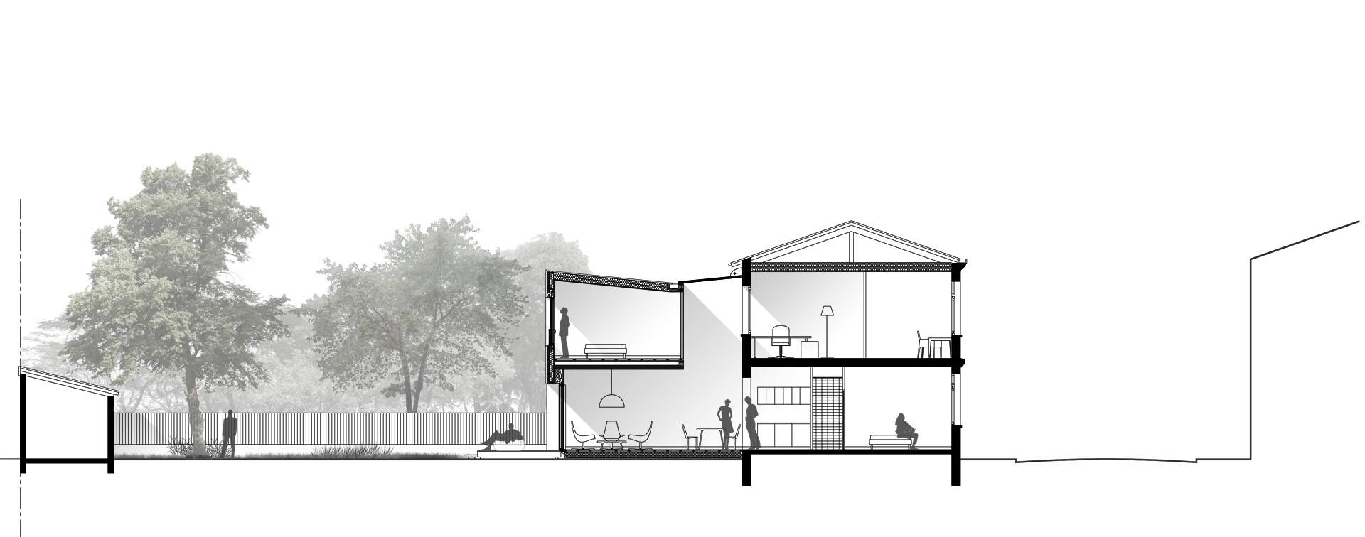 extension de maison en ossature bois aux Chartrons à Bordeaux