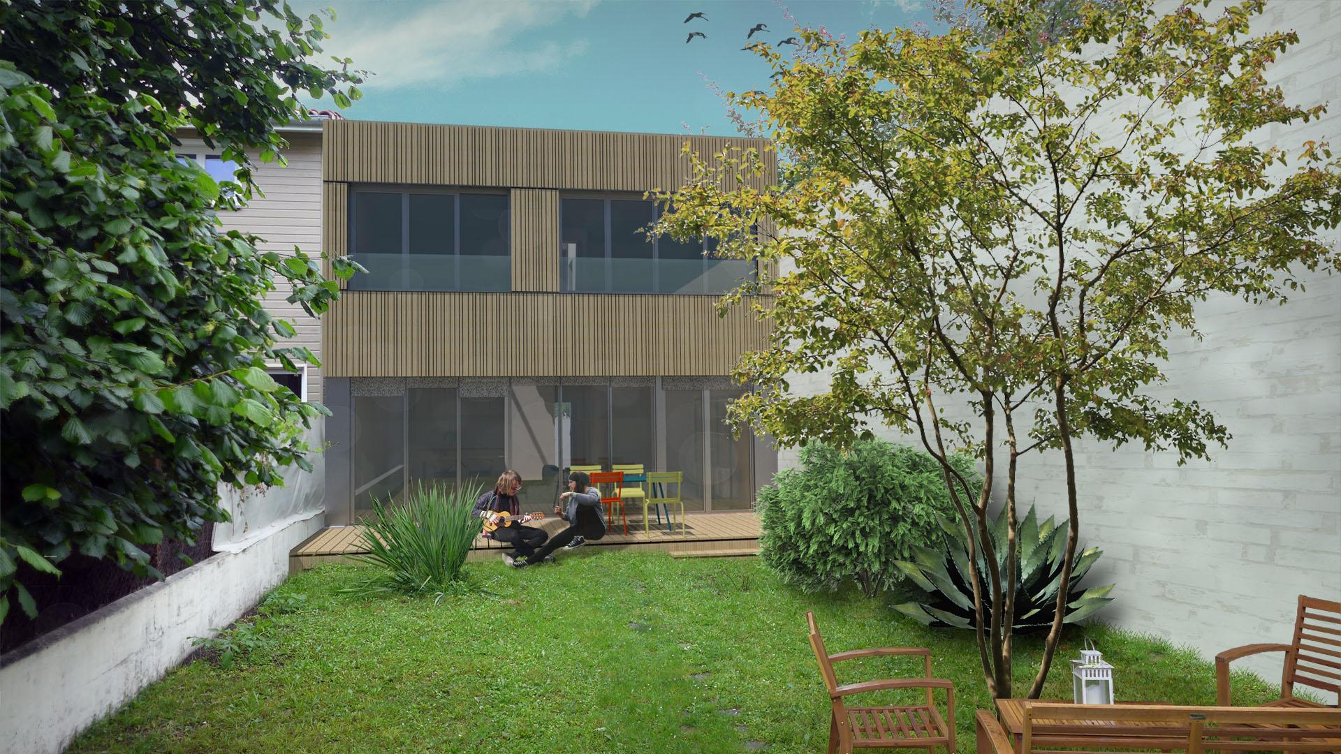 maison architecte ossature bois à Bordeaux