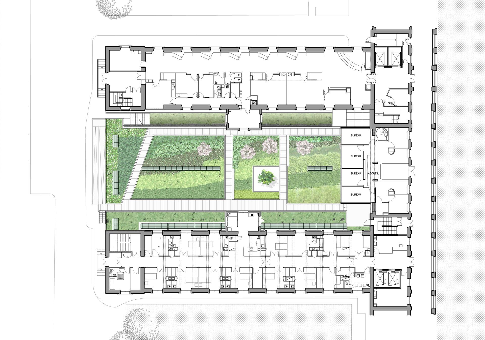 Concours pour le regroupement de trois r animations for Site pour plan a trois
