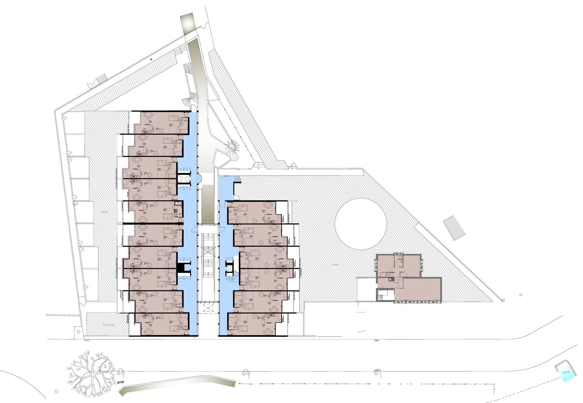 Plan du niveau R1 - EHPA La Teste