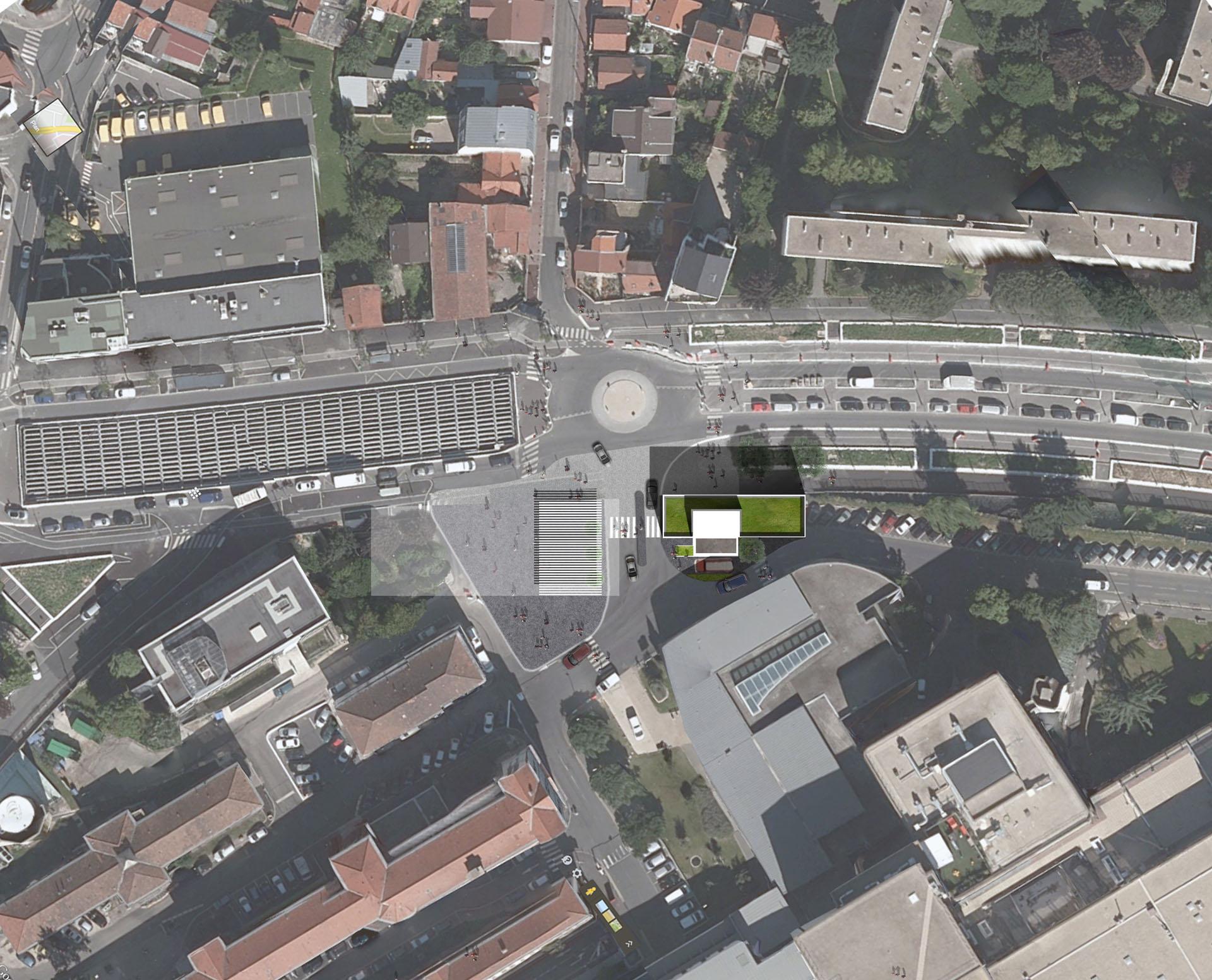 Construction du poste central de sécurité, Hôpital de Bicêtre, Kremlin Bicêtre (94)