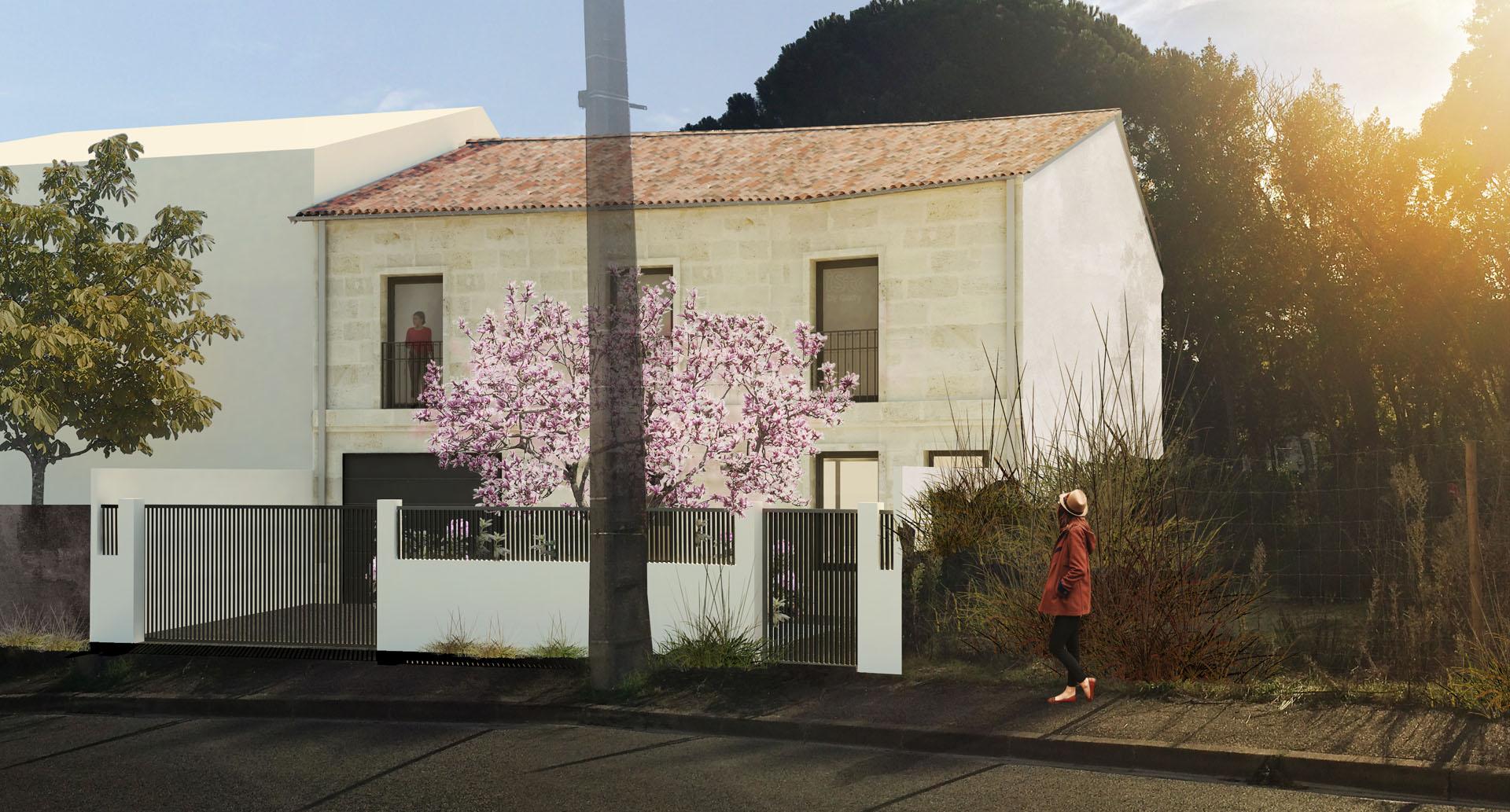 projet de construction d 39 une maison familiale de 4 chambres talence 33 architectes bordeaux. Black Bedroom Furniture Sets. Home Design Ideas